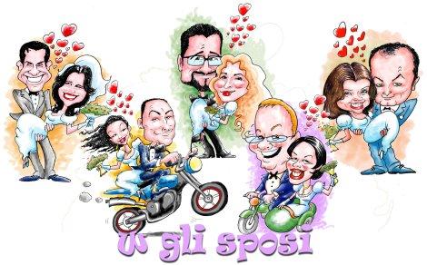 Caricature per Partecipazioni Sposi di Alberto De Lazzari